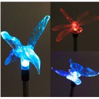 Quality Changing Color LED Solar Dragonfly Lights Outdoor Solar Powered Butterfly Garden for sale