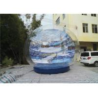 Xmas High Quality PVC Transparent Giant Inflatable Snow Globe Manufactures