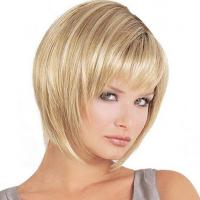 China 8-30 Short Blonde Bob Wig , 100 Real Human Hair Extensions Chemical Free on sale