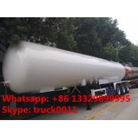 Quality 2017s New design 59.5cubic meters bulk lpg gas semitrailer for sale, factory for sale