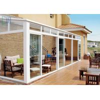Quality Portable White Aluminium Frame Greenhouse With Tempered Glass House Roof for sale