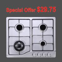Four Burners / 6 Burner Gas Hob with Stainless Steel Panel for Cooking Manufactures