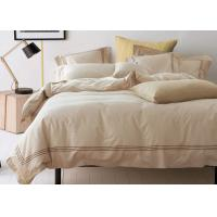 Straight Line Embroidered Solid Duvet Covers , Color Customized Home Duvet Covers Manufactures