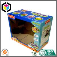 Micro F Flute Corrugated Carton Box; Clear Plastic Window Toy Packaging Box Manufactures