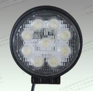 27W 9CS LED Truck Spotlight 4wds LED Work Light Heavy Duty Machinery (JG-090-F) Manufactures