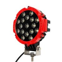 "51W 7"" Red Flood Round LED Work Light Off-road Fog Driving Roof Bumper for SUV Boat Jeep Lamp Manufactures"