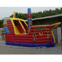 Durable PVC Tarpaulin Inflatable Sports Games , Slide Funny With 8L x 8W x 4H Size Manufactures
