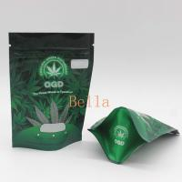 China Clear Front Mylar Zip Plastic Bags CBD Frog Chew Gummies Package Sachet Pouch on sale
