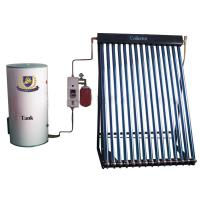 Split pressurized solar water heater designed with heat pipe and copper coil Manufactures