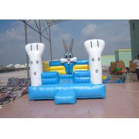 Durable Blue Outdoor Commercial Bounce Houses With Oxford Fabric Manufactures