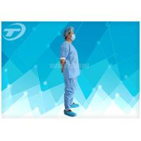Disposable Coveralls Waterproof Disposable Gown With Knitted Cuff Manufactures