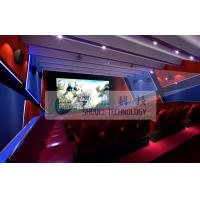Attractive 4d simulator cinema , 3D 4d 5D 6D movie with flat / arc screen for Theme park Manufactures