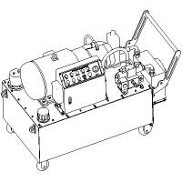 Portable Electric Hydraulic Power Unit , 50 Hz 37 KW Compact Hydraulic Power Units Manufactures
