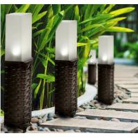 Rattan Solar Post Lights , Cold White LED Light For Garden Decorative Manufactures