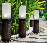 Rattan Solar Post Lights , Cold White LED Light For Garden Decorative Manufactures