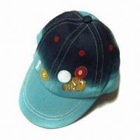 Kid's Baseball Cap with Full Color Screen Printing, Made of 100% Cotton Twill Manufactures