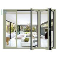 Quality European Style Aluminium Glass Folding Doors Waterproof / Soundproof ISO 9001 for sale