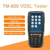 Quality TM-600 VDSL Tester Fiber Optic Tools ADSL/VDSL/OPM/ VFL/TDR Tone Tracker all-in for sale