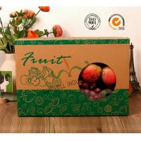 China E-Flute Corrugated Cardboard Food Packaging Boxes , Fruit Gift Packaging Box on sale