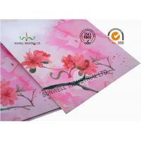 China Normal Finising Ordinary Paper Custom Printed Envelopes 4 Colors Peach Flowers for sale