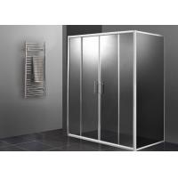 Double Sliding Door Shower Enclosure 1000 X 800 , Rectangular Shower Enclosure Glass Manufactures