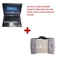 Multi Language 2016.5 MB Star C3 Mercedes Diagnostic Tool with Dell D630 Laptop Works with Cars & Trucks Manufactures