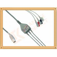 Buy cheap Mennen ECG Patient Cable 10 Pin 3 Leads Grabber AHA Gray Color from wholesalers
