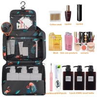 Flamingo Print Polyester Hanging Toiletry Travel Bag Manufactures