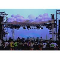 Led Lighting Inflatable Stage Decoration / Inflatable LED Cloud with Inner Blower Manufactures