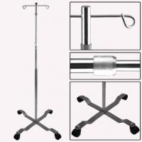 Stainless Steel I.V. Stand For Hospital Transfusion With 4 Hooks