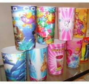 China PLASTIC LENTICULAR 16 oz 3d mug lenticular cups with flip effect-custom plastic 3d lenticular plastic cups for gift on sale