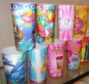 China PLASTICLENTICULAR 16 oz 3d mug lenticular cups with flip effect-custom plastic 3d lenticular plastic cups for gift on sale