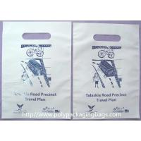 Disposable Cornstarch Biodegradable Plastic Bag With Handle Hole Manufactures