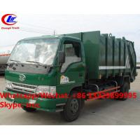 Quality Factory sale good price FAW brand 4*2 LHD 5m3 garbage compactor truck, HOT SALE! lower price wastes collecting vehicle for sale