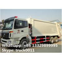 Foton Auman 6*4 LHD 18m3 garbage compactor truck for sale, factory sale 18cbm compacted garbage truck Manufactures