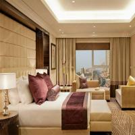 Five Star Luxury Hotel Bedroom Furniture Sets MDF / Plywood Veneer Manufactures