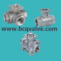 1/2/3PCS stainless steel FEMALE THREADED MOUNTING PAD BALL VALVE Manufactures