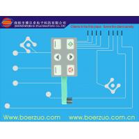 Mechanical White Single Touch Stock Membrane Switch With Embossed 0.35 mm Manufactures