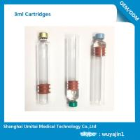 Multi Function Insulin Pen Cartridge 3ml For Insulin Pen Top Cap Plunger  Manufactures