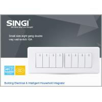 GNW58C Time Remote Control Wall Switch for Light , 8Gang RF Lamp Switching Manufactures