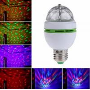 16 Colors Change E27 RGB LED Lamp 3W AC 85-265V 110V 220V Auto Rotating Stage Light DJ Disco Club Party PUB LED Bulb Manufactures