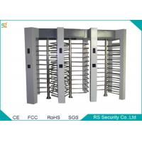 TCP / IP Security Automatic Turnstiles Three Channel Full Height Turnstiles Manufactures