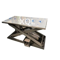 0.6MPa Sofa Pneumatic Lift Table 1200mm Height For Assembling Manufactures