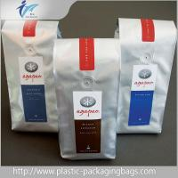 Customized Stand Up Plastic Pouches , Side Gusset Coffee Packaging Bags Manufactures