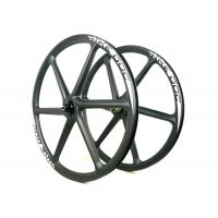 Buy cheap BIKEDOC 26ER Carbon MTB Wheelset Novatec Hub 30MM *30MM 6 Spoke Wheel from wholesalers