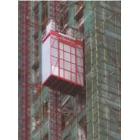 200kg Loading Capacity Construction Hoist , Red Building Material Hoist Manufactures