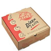 China Recycled Food Packaging Printed Brown Kraft Paper Pizza Box on sale