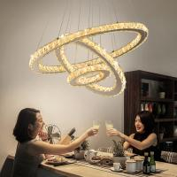 Buy cheap Chrome Diamond Ring Pendant Lamp Stainless Steel Hanging Light Fixtures from wholesalers