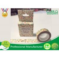DIY Japanese Washi Masking Tape 1.5cm X 10m For Wall Decorative And Gift Box Manufactures