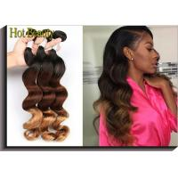 Fashion 3 Tone Ombre Human Hair Extensions Peruvian Body Wave Virgin Hair Manufactures